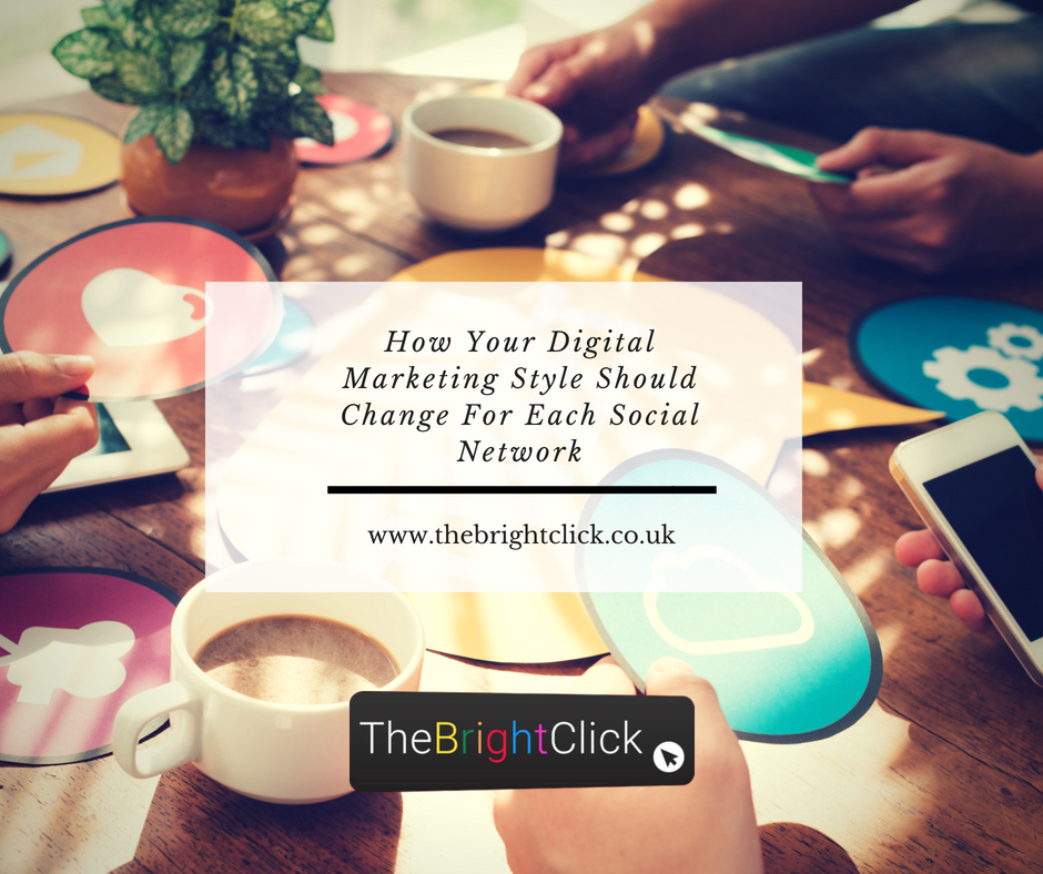 How Your Digital Marketing Style Should Change For Each Social Network